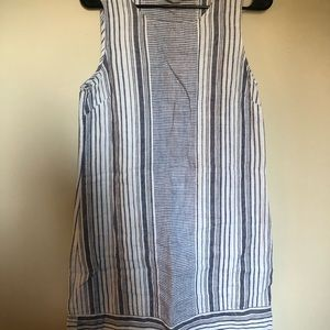 Dresses & Skirts - FREE Blue and White striped linen dress